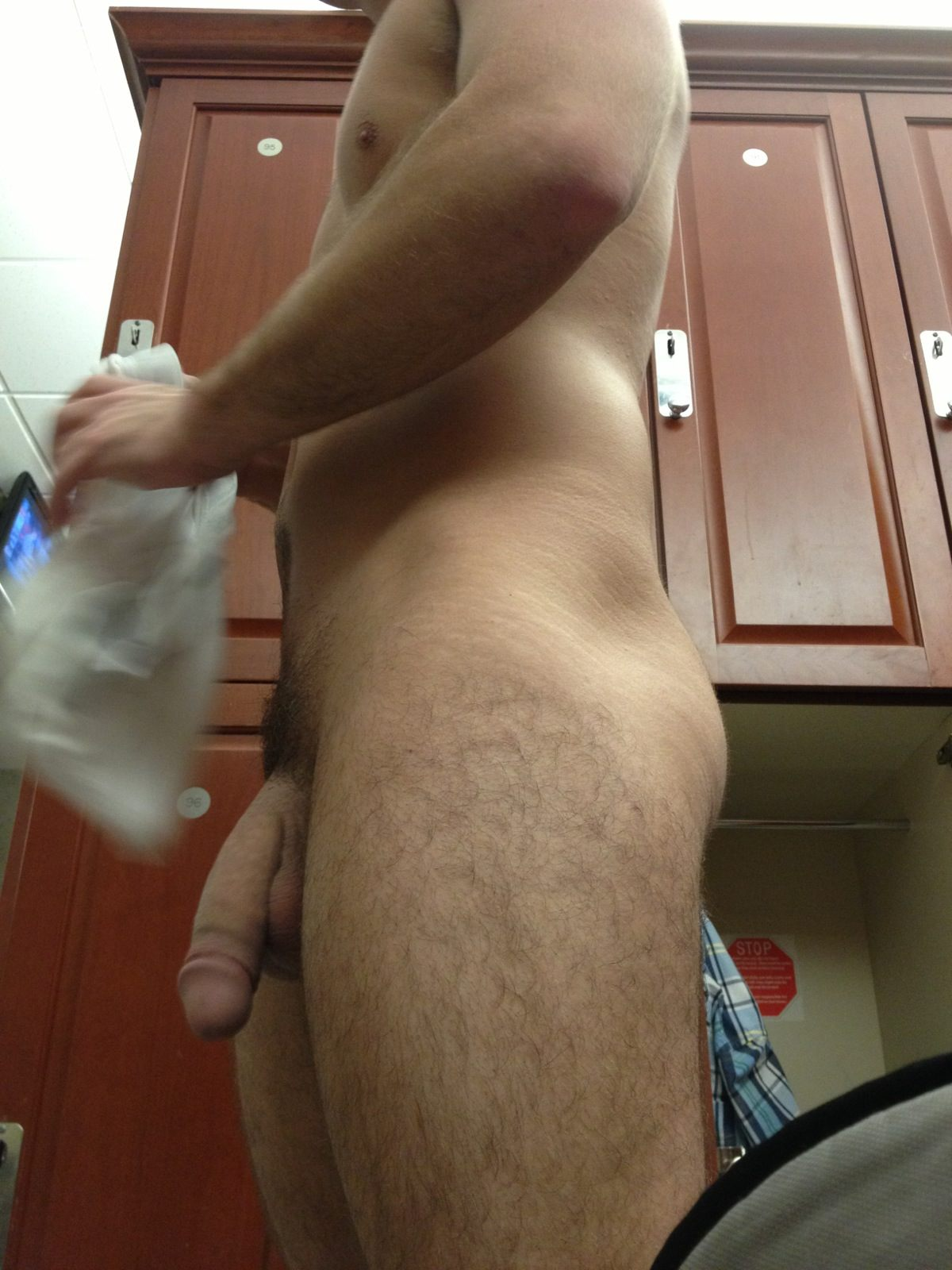 Guy At The Gym With A Nice Big Cock