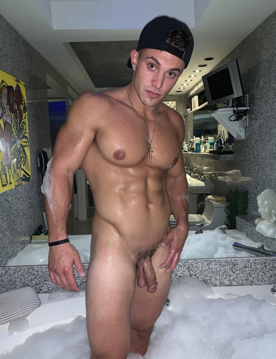 Hunk with a soft dick